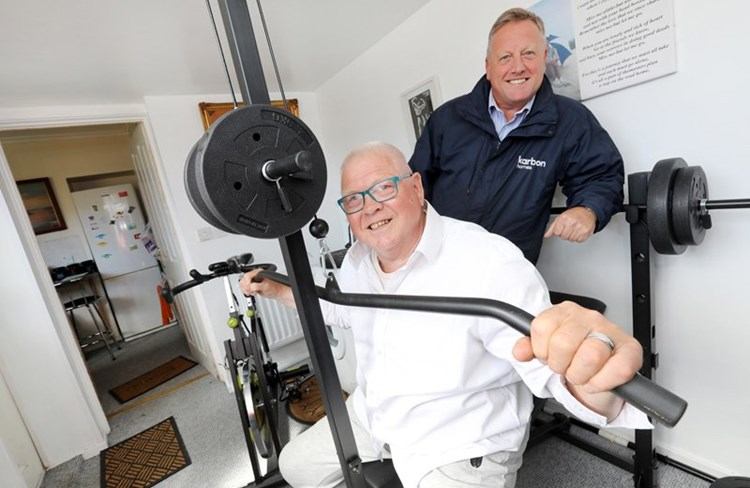 75-year-old great grandad turns new living space into a home gym