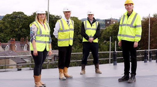 Roof complete on £5.5m Retirement Living development in the heart of Hexham