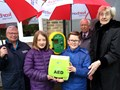 Life saving defibrillator installed in  Medomsley village, Consett