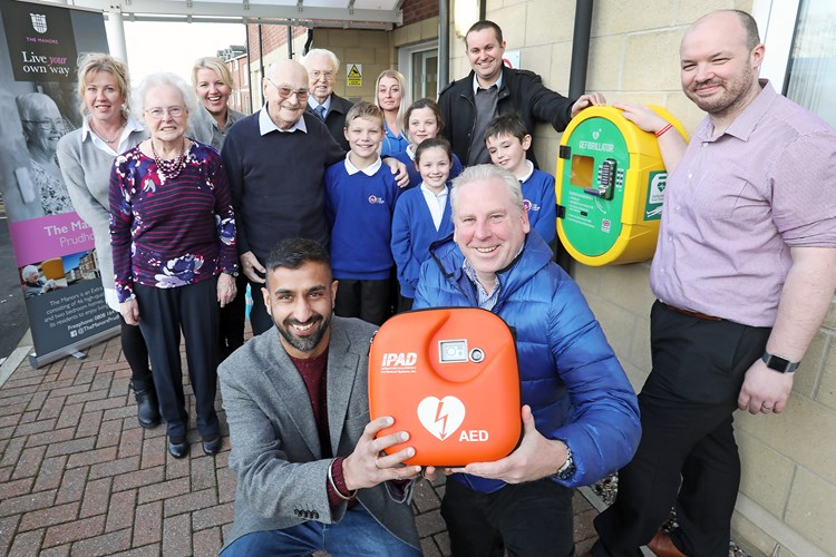 Life saving defibrillator installed at  The Manors in Prudhoe