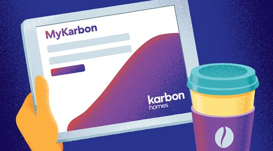 Save time and do it online with MyKarbon